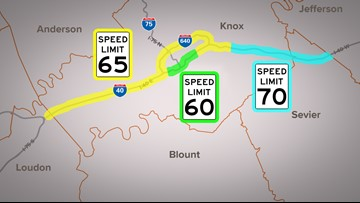 Speed limits increase on I-40, I-75, I-640 in Knoxville ...