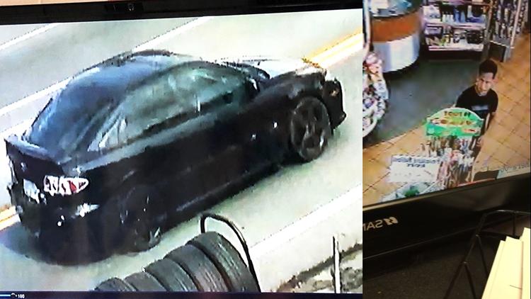 Suspect and car Blount County La Lupita robbery