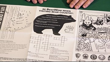New placemat teaches tourists bear safety