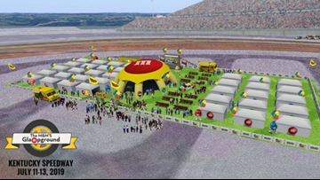 Burning rubber and trading paint just got a lot sweeter thanks to the M&M's Glampground