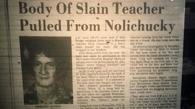 Morristown Citizen Tribune Article on Dorothy Sutton's murder by Nicky Sutton