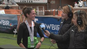 Women's half-marathon winner talks about race