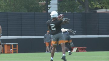 Vols hit the practice field three days before playing Florida