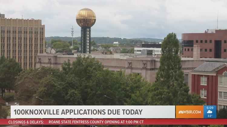 Deadline to apply for 100Knoxville program