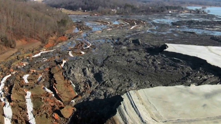 TVA Kingston Ash Spill Aerial Dec 22 2008