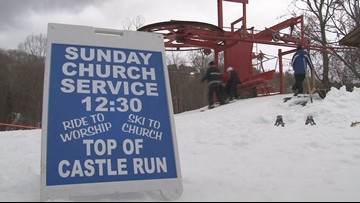 Ober outdoor church brings Sunday service to snowboarders