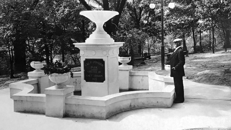 Cal F. Johnson Park Knoxville Marble Fountain 1922