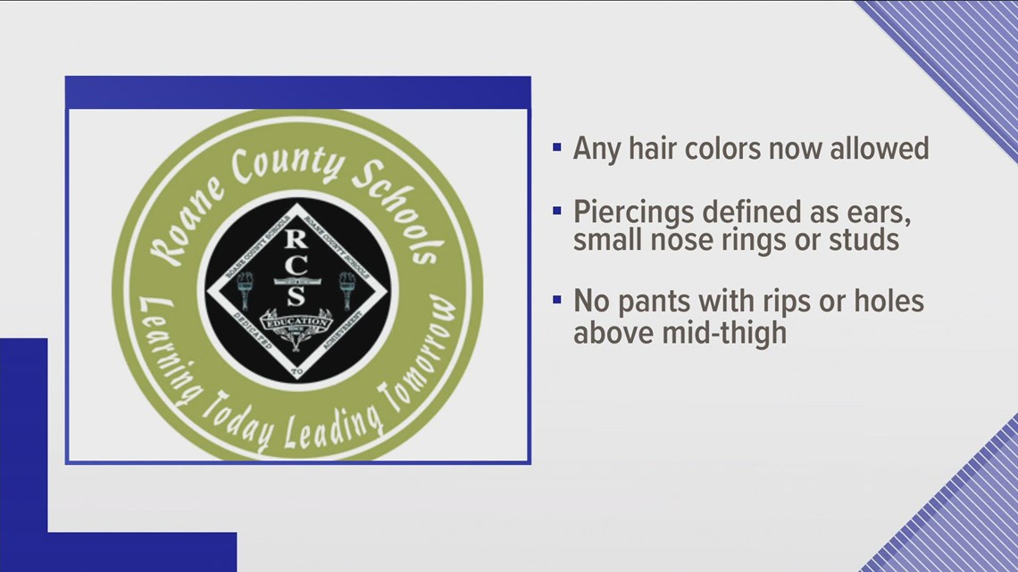 Roane Co. Schools to allow dyed hair, small nose piercings as part of updated dress code