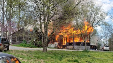 Fire engulfs North Knox County house, no injuries reported