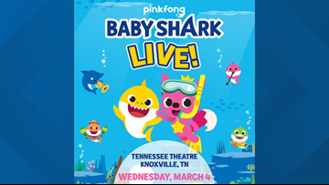 Baby Shark Live! coming to Knoxville at the Tennessee Theater on Wednesday
