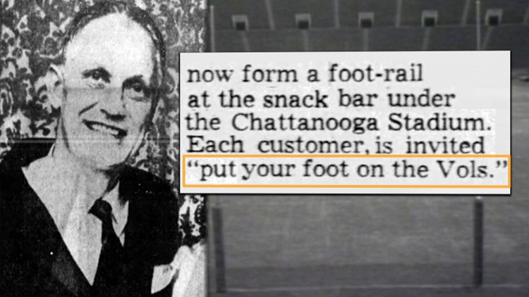 Sheriff Turner foot-rail snack bar Mocs Chattanooga Tennessee Vols football