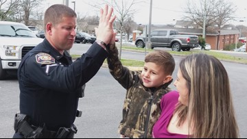 Blount County boy spends birthday at the sheriff's office