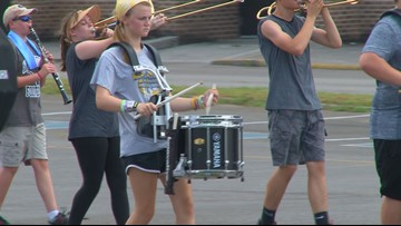 Anderson Co. HS band, football team stay cool during heat wave