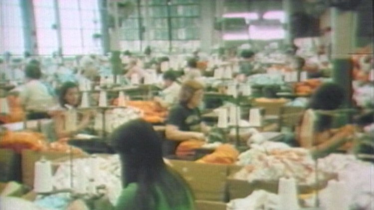 Interior of the Standard Knitting Mill in 1979.