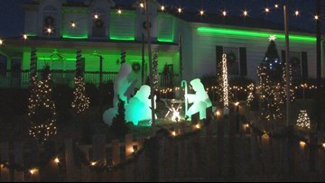 Christmas lights are tradition for Johnson family