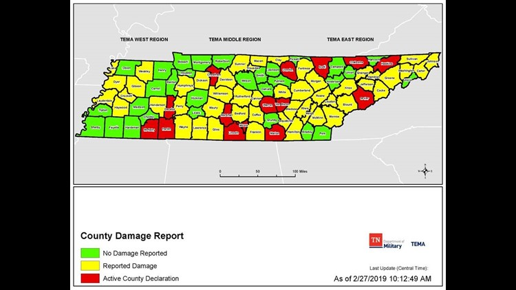 TEMA damage map