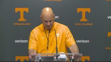 Vols speak to the media after the Orange & White game