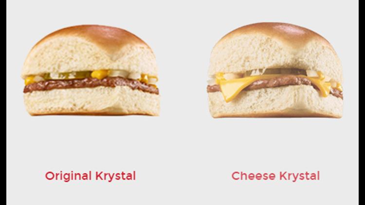 Krystal features its famous square Krystal burgers.