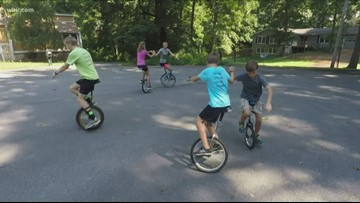 Half the wheels but twice the fun: A family united in unicycling