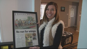 This Morristown woman hitchhiked to marathon start line