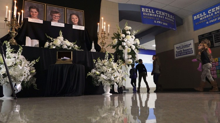 Memorial Bell Central School Center Posey Children Killed in House Fire