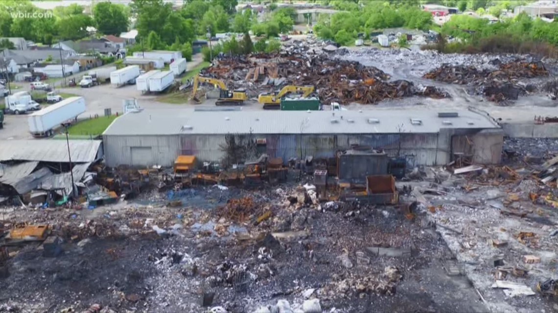 Neighbors share concerns over recycling plant fire