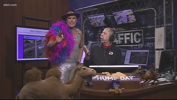 A moment when Hans reports the traffic with Ed Rupp