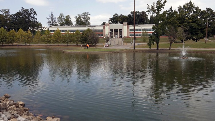 Jacob Building and Pond at Chilhowee Park in East Knoxville