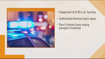 Sutherland Avenue back open after car crash