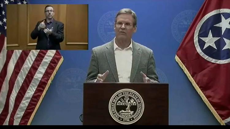 Gov. Bill Lee briefing, March 25