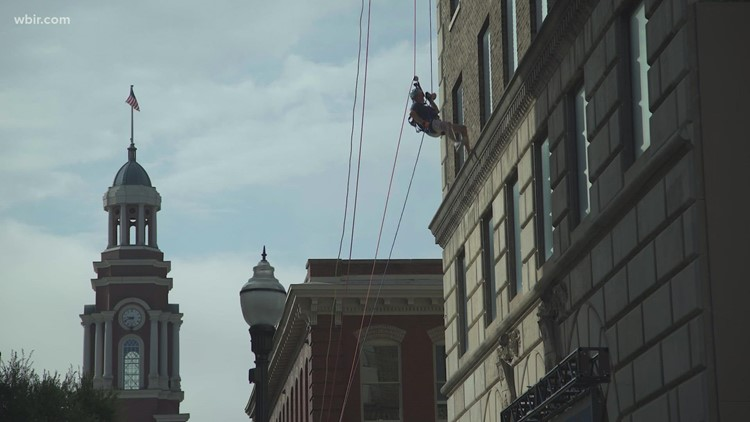 Knoxville nonprofit goes to new heights to raise money in