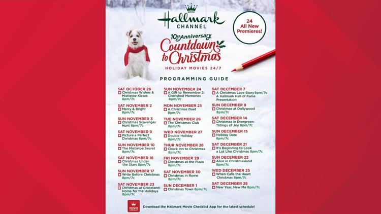 Hallmark Christmas movie line up