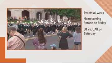 University of Tennessee Vols to celebrate homecoming week