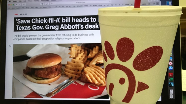 'Save Chick-fil-a' bill headed to Texas governor's desk