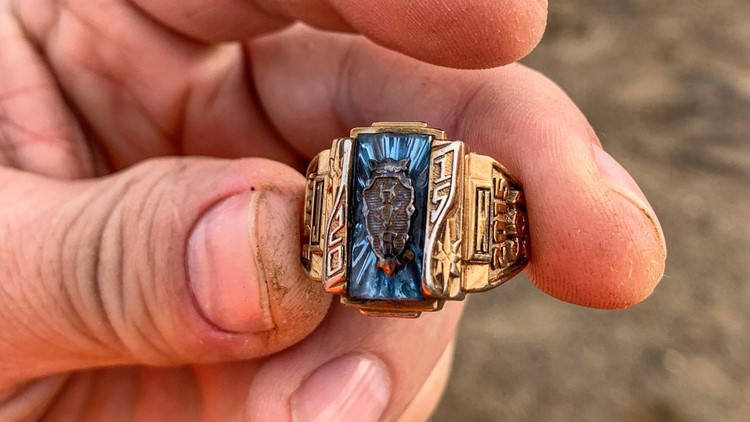 A metal-detecting YouTubber found his ring