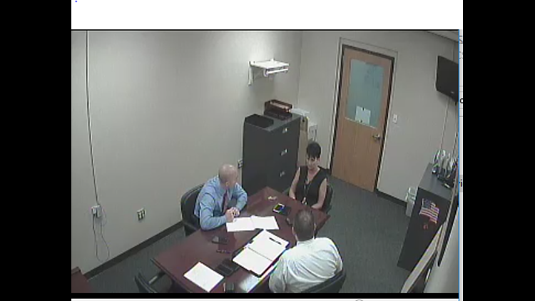 Kimberly Glenn shown during the internal affairs investigation.