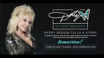 Dolly to premiere a special behind-the-scenes look at her Opry exhibit Friday morning