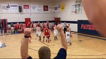 'I swished it like Michael Jordan, didn't I, mom?' || Oakdale student with autism has his basketball dream come true