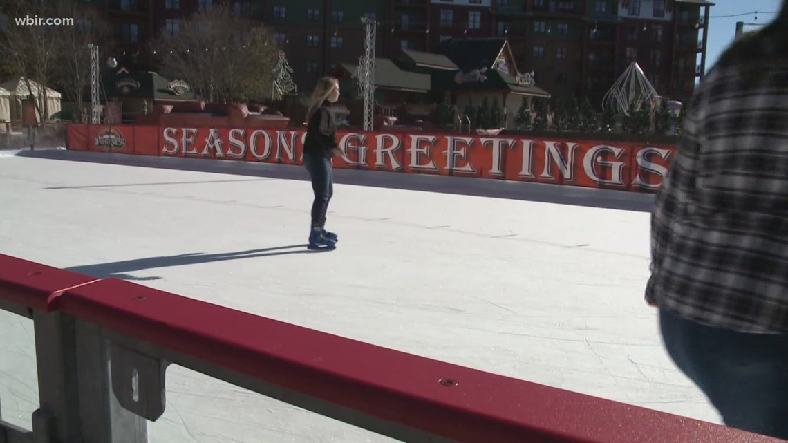 Sevierville water park converts wave pool into ice rink for third year