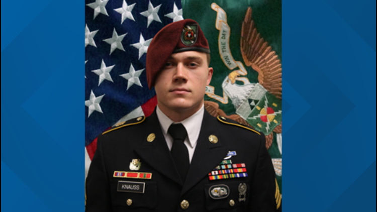 Staff Sgt. Ryan Knauss taken to Virginia for burial at Arlington National Cemetery on Sept. 21