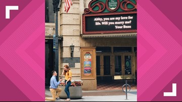 She said yes! Tennessee Theatre helps in a proposal