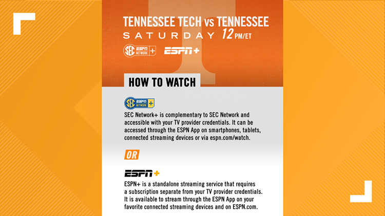 Saturday Vols game to show exclusively on digital platforms, SEC Network+ and ESPN+