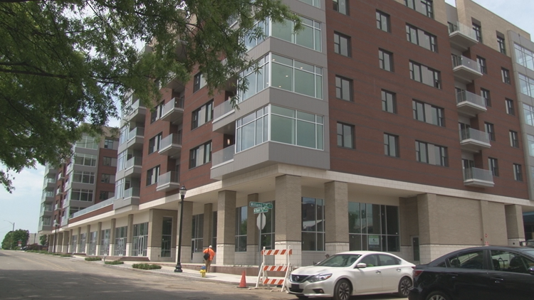 A developing downtown: Several new apartments under ...