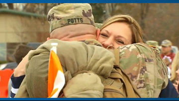 Tennessee soldiers return home after serving nearly a year deployed overseas