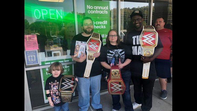 WWE meet and greet in Knoxville