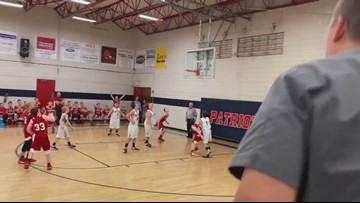 'I swished it like Michael Jordan, didn't I, mom?' || Oakdale student with autism has basketball dream come true