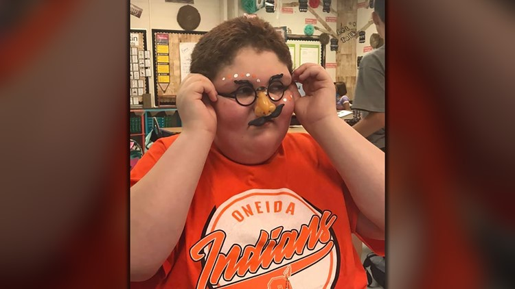 Hunter Hall Oneida Middle School Special Needs Student Costume
