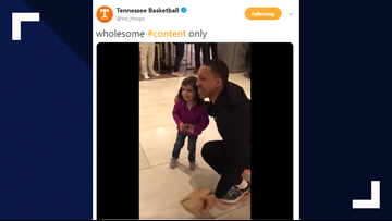 """""""Have you seen Admiral?"""" adorable little Vols fan asks Grant Williams"""