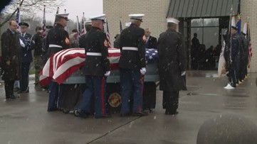 Dozens attend burial for two unclaimed veterans laid to rest