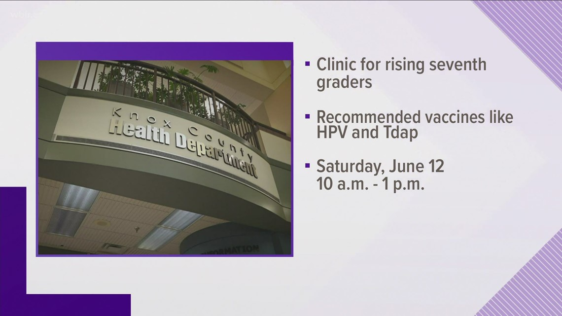 Knox County Health Department offering vaccines for rising seventh graders
